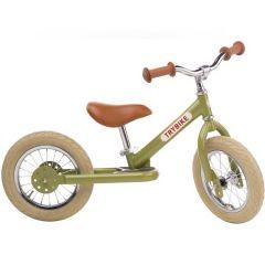 Laufrad Trybike Stahl Vintage look, grün, Gratis Versand Schweiz