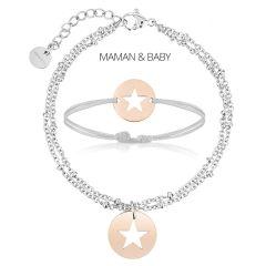 Duo Armbänder Mutter/Baby, Mutter-Tochter-Geschenk, Schmuck zur Personalisierung, Aaina & Co