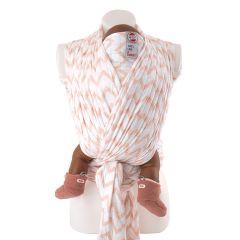 Babytragetuch 100% hydrophiler Baumwolle selber Nähen, Lodger rosa