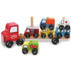 Autotransporter Holzspielzeug Kinder ab 2, Vilac