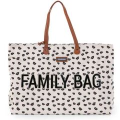 Wickeltasche Family Bag Leopard, Geschenkidee Muttertag