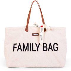 Wickeltasche Family Bag Teddy Offwhite, Geschenkidee Muttertag