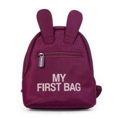 premier sac à dos fille, couleur aubergine