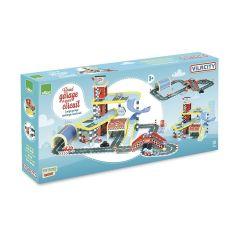 Kinder Spielzeug Holz, Autogarage und Rennstrecke Gross, Vilacity von Vilac