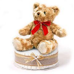 Baby Geschenk, Teddy Bär mit 28 ökologischen Pingo Windeln, Geschenk Geburt Baby, Schweizer Online Shop
