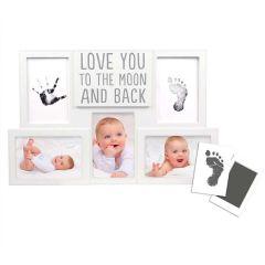 Baby-Erinnerungen, Baby-Foto und Aufdruck Love you to the Moon and back, 100% sicher für Baby, Pearhead