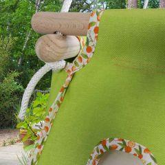 Baby Hängematte Bio grün orange, Hängewiege, Öko-Tex Standard 100, Gratis Versand überall in die Schweiz