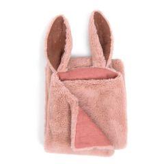 Ultraweiche Baby Girl Kuscheldecke Hase Pink, 90 x 69 cm, Moulin Roty