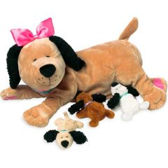 Ultraweicher Plüsch, Hund mit Welpen, Manhattan Toys, Geschenkidee 3 Jahre