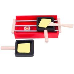 Spielba Raclette Set, Spielzeug aus Holz Geschenkidee für Kinder ab 3 Jahre alt, Spielba