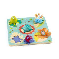 Steckpuzzle Lilo, Schildkröte und Freunde Djeco