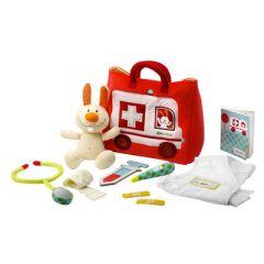 Kleines Doktor Spielset Rettungswagen für Kinder Lilliputiens