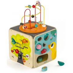Maxi Activity Looping mit 8 Funktionen Spielzeug aus Holz ab 18 Monate, Janod