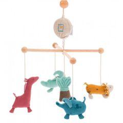 Musik Mobile für Baby mit Dschungel Tiere von Moulin Roty, kostenloser Versand