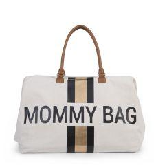 Wickeltasche Mommy Bag Stripes Black/Gold Childhome, Geschenkidee Mutter