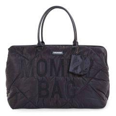 sac à langer mommy bag, noir matelassé