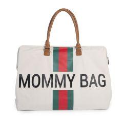 Wickeltasche Mommy Bag Stripes Grün/Rot Childhome, Geschenkidee Mutter