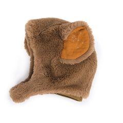Baby Mütze 6-18 Monate, Bär braun, Geschenkidee Geburt Baby, Moulin Roty