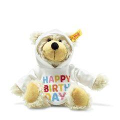 Steiff Teddybär mit Kapuzenpullover Charly Happy Birthday, Geschenkidee Geburtstag
