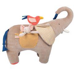 Musik Stofftier Elefant Papoum Moulin Roty