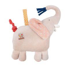 Musik Stofftier für Baby und Kinder Elefant Papoum Moulin Roty