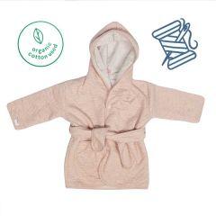 Kinder Bademantel Öko-Baumwolle dunkel Pink Trixie