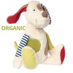 Stoffhund aus Bio Baumwolle Plüschtier Green Sigikid