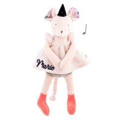 Personalisierte Spieluhr Plüsch Maus, Moulin Roty Baby Geschenk für Mädchen