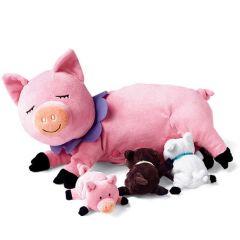 Ultraweicher Plüschschweinchen mit Kleinen, Manhattan Toys, Geschenkidee 3 Jahre