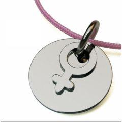 Silber Baby KettenAnhänger mit Gravur (Mädchen)