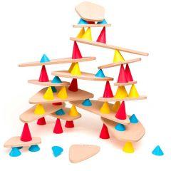 Lernspiel Piks Medium 64 Stück, Konstruktions- und Balance-Spielzeug ab 3 Jahren