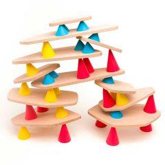 Lernspiel Piks Medium 44 Stück, Konstruktions- und Balance-Spielzeug ab 3 Jahren