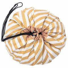 Spielsack Kinder Stripes mustard Baumwolle, Ø 140 cm, Play & Go