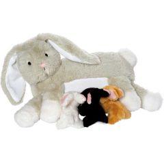 Ultraweicher Plüsch, Hase mit seinen Kleinen, Manhattan Toys, Ostergeschenkidee