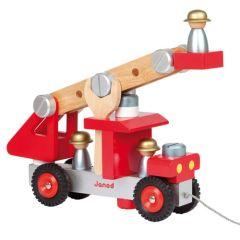 Spielzeug Feuerwehrfahrzeug aus Holz Janod