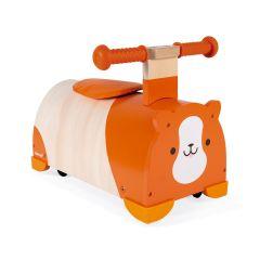 Hamster Roll-Rutscher, 360°drehbar, Geschenkidee zum 1. Geburtstag Mädchen oder Junge, Janod, Gratis Versand