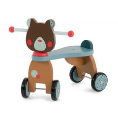 Rutscher aus Holz, Baby ab 1 Jahr, Bär von Moulin Roty, Gratis Versand in die Schweiz