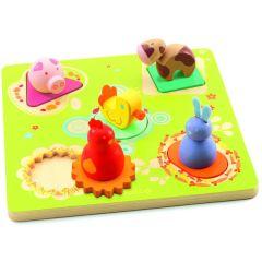Steckpuzzle Bildi, Ente und seine Freunde