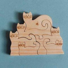 Kleines Montessori Puzzle 6 Teile, Kaspi Land