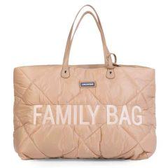 Family Bag Childhome Wickeltasche , Gesteppt beige