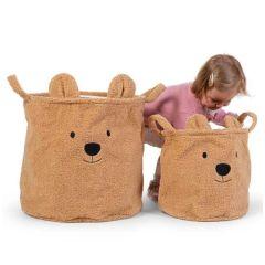 Teddybär Körbe zur Aufbewahrung von Babyspielzeug, Childhome