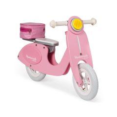 Scooter Laufrad Holz für Mädchen ab 3, rosa, Janod