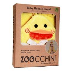 Baby Kapuzenbadetuch mit Personalisierung Ente 76 x 76 cm, Zoocchini