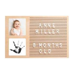 Pearhead Message Board, Baby-Foto und Fußabdrücke 100% sicher für Baby, Pearhead