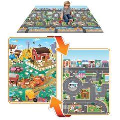 Mega-Spielmatte 2-seitig (city-farm)