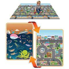 Mega-Spielmatte 2-seitig (city-ocean)