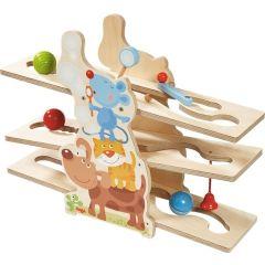 Kugelbahn Klick-Klack Tierfreunde Spielzeug aus Holz ab 18 Monate Haba
