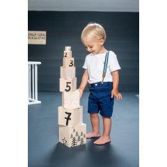 Stapelturm Zahlen, 100% Schweizer Spielzeug Kynee, Junge und Mädchen, Gratis Versand