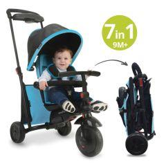 Dreirad 7 in 1, SmarTrike 500 7 in 1, für Baby ab 9 Monate blau