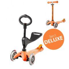 Mini Micro Scooter 3in1 Deluxe orange, von 1 bis 5 Jahre alt